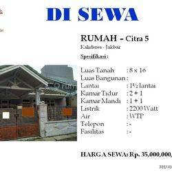 Rumah Citra 5 Ukuran 8 daerah Kalieres Jakarta Barat