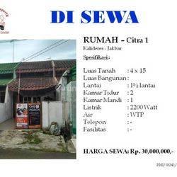 Rumah Ukuran 4 di Citra 1 Kalideres Jakarta Barat