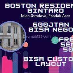 Boston Residence Bintaro, hunian megah 600 JTan nego! CASHBACK 50 JT PASTI!