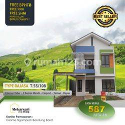 Rumah 2Lantai 3 kamar murah promo diskon Cilame Ngamprah Bandung Barat