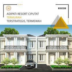 Adipati Resort Ciputat, hunian classic 2 lt, 700jtan bisa nego, free SHM, lokasi di pinggir jalan akses mudah kemanapun!