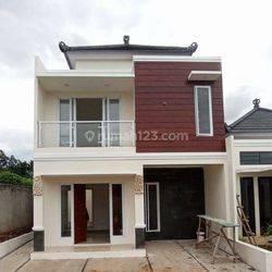 Rumah 2 lantai ekslusif akses 2 mobil di Bhakti Abri Tapos Depok