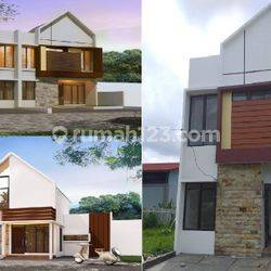 Rumah 2 Lantai 12 Menit St. Depok Lama 600jtan Dp 0% Free Biaya All in