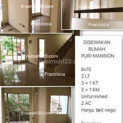 D I S E W A K A N Rumah di Puri Mansion