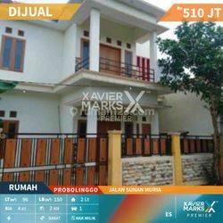 Rumah Murah Nyaman 4 Kamar SHM di Jalan Sunan Muria Probolinggo