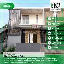 Rumah type 150, bangunan baru & design minimalis di Purnama Patra