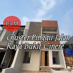 Rumah dijual di dalam cluster dekat jalan raya bukit Cinere
