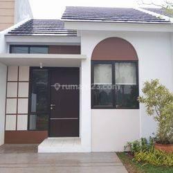 Rumah cantik minimalis harga murah lokasi strategis dekat dengan jalan raya dan fasilitas umum, 5 menit dari stasiun Parung Panjang