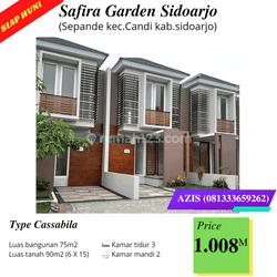 Rumah baru siap huni tipe casabila safira garden lokasi sepande sidoarjo