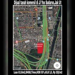 Tanah Kavling Komersial luas 8200 m2 Yos Sudarso Jakarta Utara