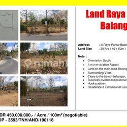 Prospective Accommodation Aspect on Balangan Beach Street