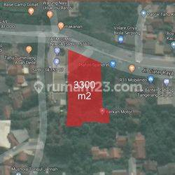 Tanah Kavling Komersil 3000 Meter Pingir Jalan Raya Ciater, Serpong. Lokasi Sangat Bagus Untuk Usaha.