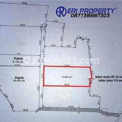 Tanah Industri 1 Hektar Tangerang Kota 3,5 Juta/m2 Dekat Tol Bitung