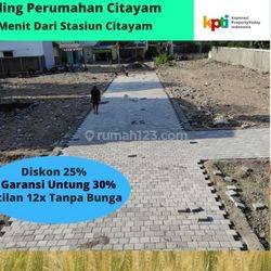 Angsur 12 X Non Bunga, Tanah Area Stasiun Citayam. Legalitas SHM