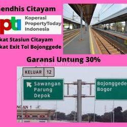 Tanah Kavling Dekat stasiun Citayam. Legalitas SHM. Garansi Untung 30%