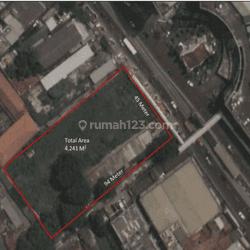 Lahan Pinggir jln raya, peruntukan kantor, hotel, sekolah dll Strategis Di Senen Jakarta Pusat