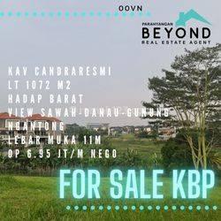 Tanah luas view danau tatar candraresmi Kota baru parahyangan, KBP