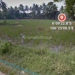 tanah kresek tangerang luas 2360m hak milik murah dan bisa nego