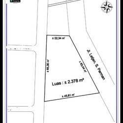 Tanah Komersial Depan Untar di Jl. S Parman, Jakarta Barat