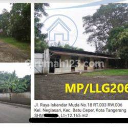 Dijual Cepat Kavling Tanah, Jl. Raya Iskandar Muda, Batu Ceper, Tangerang