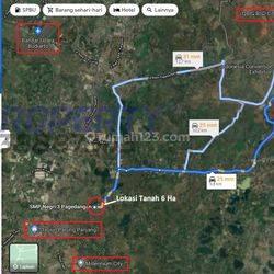 Tanah 6 Ha 900 Ribu per m2 Pagedangan BSD Tangerang Dekat Stasiun Parung Panjang dan Mall Aeon BSD
