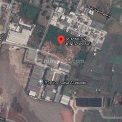 Kavling gudang atau pabrik lokasi rawa kucing tangerang