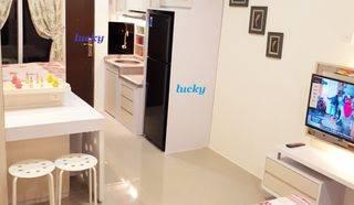 sunter park view studio  lantai granit mewah full furnish  baru murah