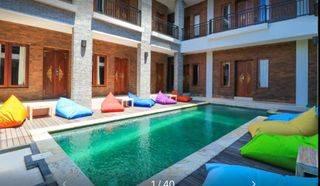 Hotel 24 kamar tidur, kolam renang, furnished, di Jln Batubelig, Seminyak, Bali