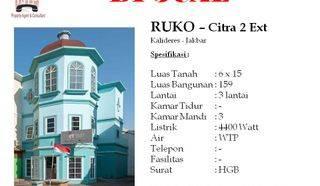 Ruko Hoek 3 Lantai di Citra 2 Ext Kalideres Jakarta Barat