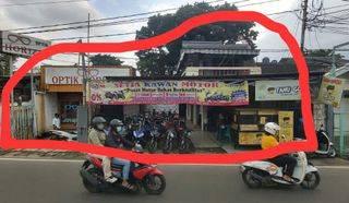 Rumah kios Strategis pinggir jalan raya cisalak Bogor