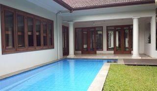 Tanah MURAH STRATEGIS pinggir jln bonus 2 rumah mewah kolam renang di Antara sari Jakarta Selatan - Etty 08993334194