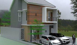 Rumah Lux Baru Minimalis 2Lt dlm cluster di Kalijati Indah Antapani