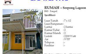 Rumah 2 Lantai di Serpong Lagoon BSD Tangerang Selatan