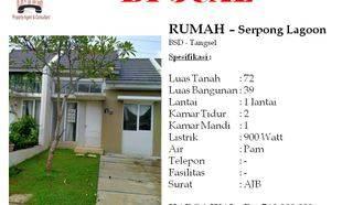 Rumah 1 Lantai di Serpong Lagoon BSD Tangerang Selatan