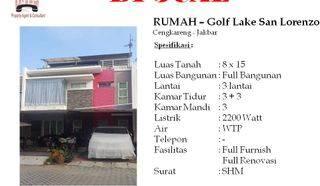 Rumah 3 Lantai di Golf Lake San Lorenzo Cengkareng Jakarta Barat