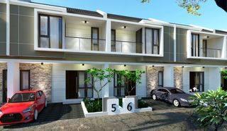 Hunian 2 lantai design menarik minimalis harga super ringan Lokasi Strategis Dengan Akses 2 Mobil 0 KM dari RS. HGA