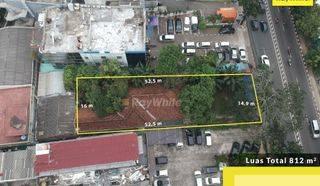 Tanah dengan lokasi strategis di pinggir jalan daerah Pancoran, Jakarta Selatan