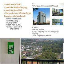 TURUN HARGA CITY VIEW STUDIO APARTEMEN Lt 9 Parkland Avenue BSD