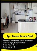 Disewakan Apartemen 3 BR Taman Rasuna Said  Rp 120 jt / tahun