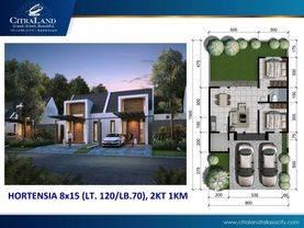 Rumah murah dan minimalis citraland tallassa city cluster white floral samping tol ir sutami