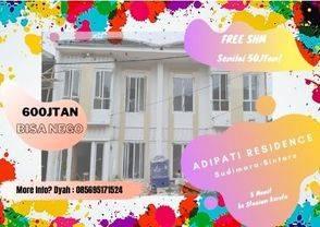 Adipati Residence Sudimara, rumah 2 lt harga launching termurah, 600jtan nego!