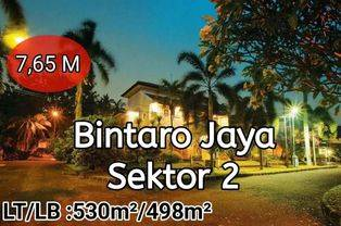 Rumah dijual Keunggulan: Cluster Hoek tanpa pagar tipe Mediterania. Berada dibagian Bintaro Jaya Sektor 2 yang sejuk dan asri, jalan perumahan lebar di Bintaro sektor 2