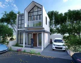 hunian minimalis modern, dengan konsep private townhouse, Free Kanopy!