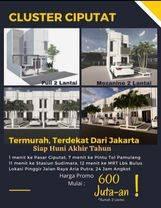 New cluster Di Ciputat Jl.Aria Putra, Dekat pasar Ciputat Lokasi Sangat Strategis