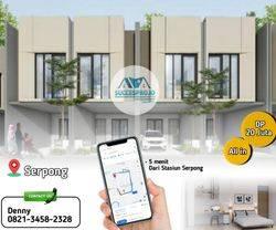 Rumah 2 Lantai Dalam Cluster Di serpong, Bebas Biaya All in, Dekat St serpong