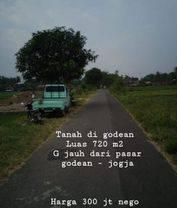 Tanah Murah Cocok Usaha/Kafe/Rumah di Jalan Godean km 10