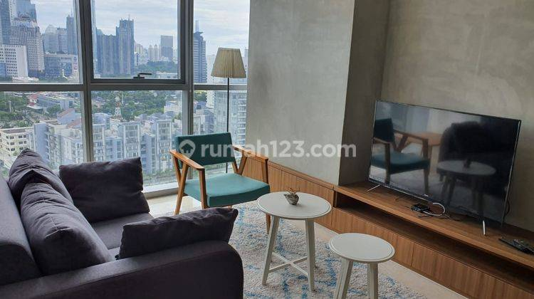 The Best Unit 2bed+2bath  Size 78sqm in a Quiet Exclusive Apartment that Make You Feel Relax Staying in the Heart of Jakarta, Ciputra World 2, Full Furnished with Excellent Interior