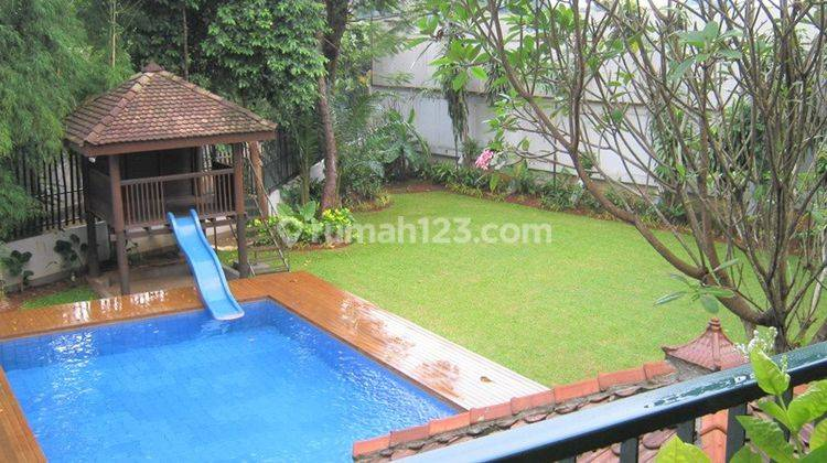 Spacious House with Lush Terracing Back Yard in Cipete, Jakarta Selatan