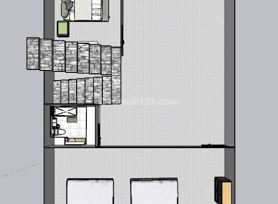 CHANDRA*rumah baru 3 lantai uk 5x15m lokasi bagus taman ratu 5